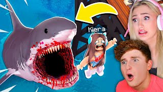 SCARY MEGALODON Eats Us In ROBLOX!!