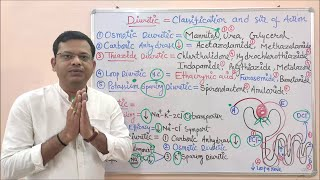 Diuretic (Part-03) Classification of Diuretics with Site of Action in Hindi By Solution- Pharmacy
