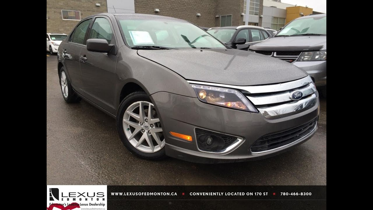 Used Grey 2012 Ford Fusion Sel Fwd Review Camrose