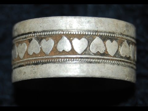 STUNNING STERLING PERUVIAN BRACELET & VINTAGE RING! + 3 SILVER COINS! | METAL DETECTING MAY 2ND 2015