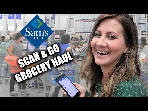 Massive Sam's Club Grocery Haul | Skipping Every Line At Sam's Club With Scan & Go | PHILLIPS FamBam
