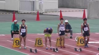 20160924群馬高校新人陸上男子100m準決勝2組