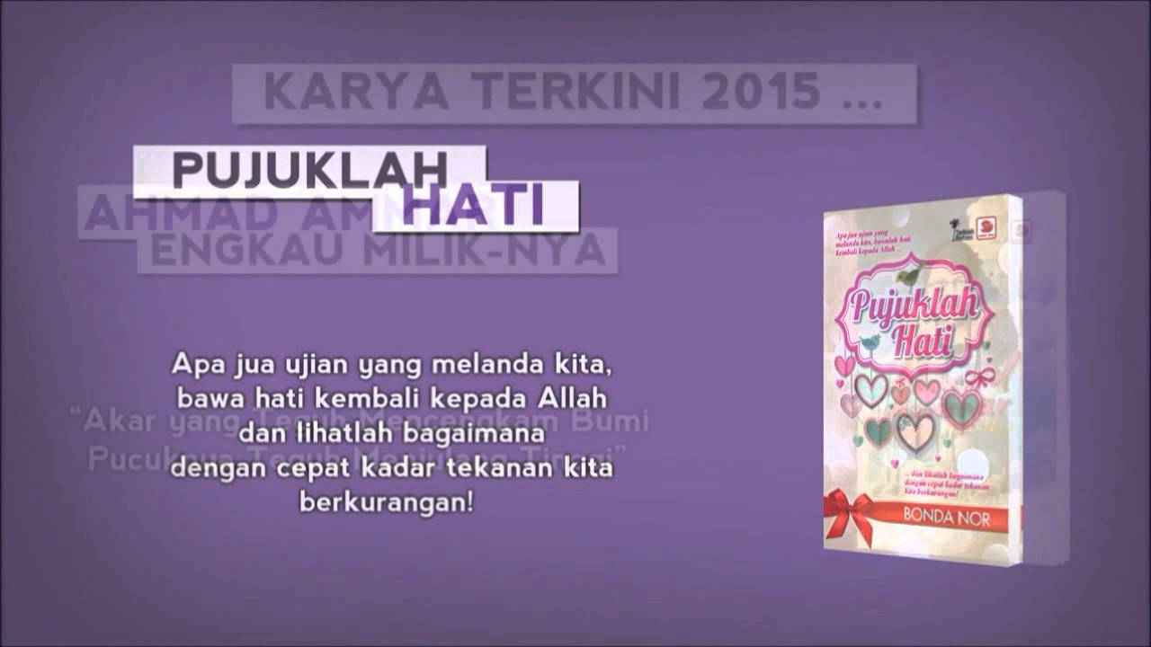 Video Promosi Buku Buku Karya Bonda Nor Youtube