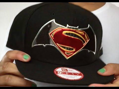 ab8130c6f584a ... official store batman vs superman title chrome snapback black hat by new  era 81174 cbecc