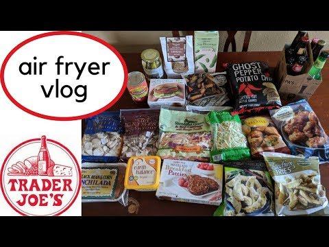 Vegan Trader Joes Haul and Air Fryer Vlog