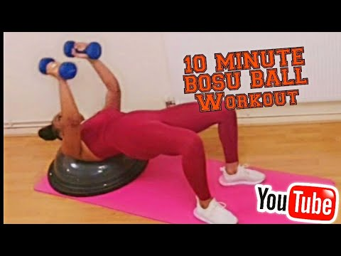 10 Minutes BOSU Ball Workout #bosuballworkout, #ballworkout, #halveballworkout