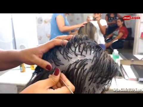 Tẩy tóc, móc light đơn giản và dễ dàng với mũ móc lai tóc Koria 2018