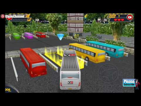 Bus Parking 3D World / Bus Park Simulation Games / Browser Flash Games / Gameplay Video
