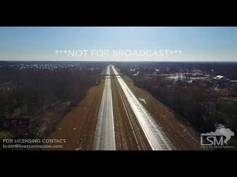 1-17-2018 Baton Rouge, La Drone over closed Interstate 10 due to icing