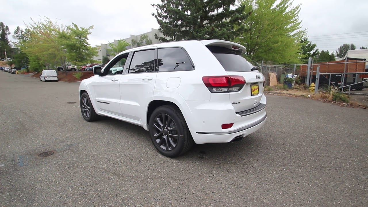 2018 Jeep Grand Cherokee High Altitude 4x4 Bright White