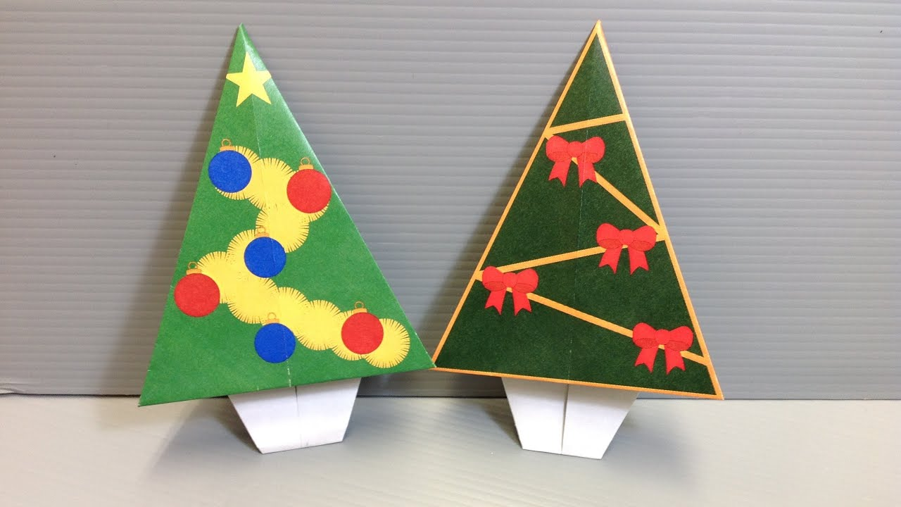Origami Christmas Tree For The Holidays