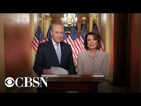 Pelosi, Schumer hold press conference after Trump announces end of shutdown, live stream