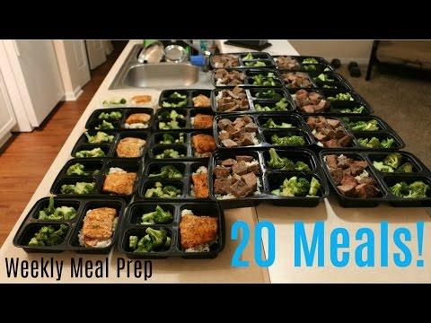 Weekly Meal Prep - 20 Healthy Meals - Macro Breakdown In Description