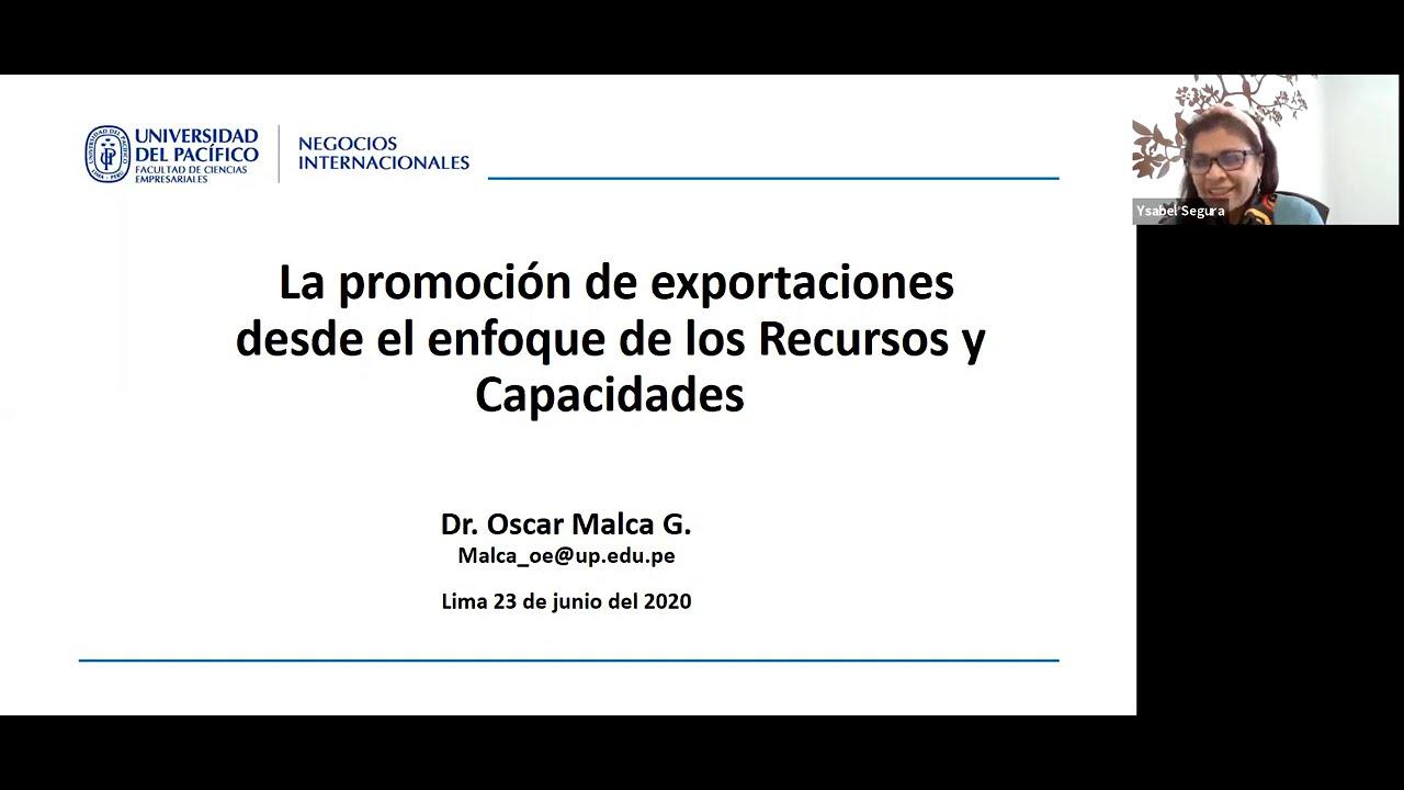Evento: Políticas de Promoción de Exportaciones: Enfoque de Recursos y Capacidades