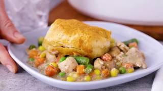 Slow-Cooker Creamy Chicken Pot Pie I Pillsbury Recipe