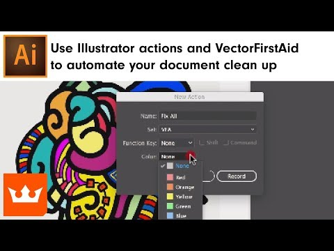 Use Illustrator actions and VectorFirstAid to automate your