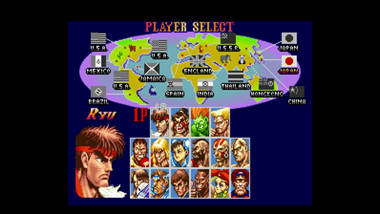 Super Street Fighter 2 Theme - Player select screen (HD ...