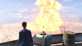 Fallout 4 - Railroad Ending Nuking The Institute, Betraying Shaun