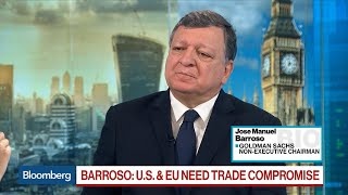 U.S-EU Trade War to Be More Devastating Than China: Goldman's Barroso