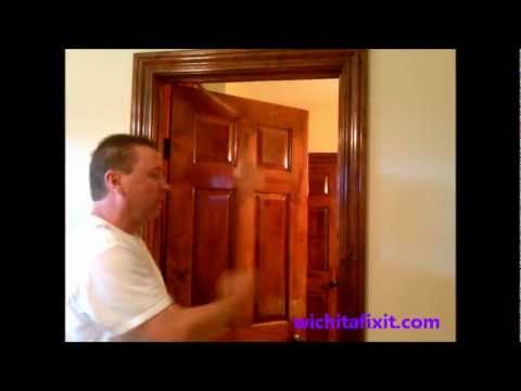How to Adjust a Door Door Adjustment with Hinges  sc 1 st  YouTube & How to Adjust a Door: Door Adjustment with Hinges - YouTube