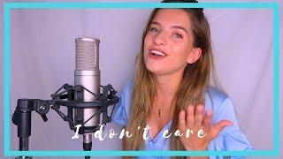 Gambar cover Ed Sheeran & Justin Bieber - I Don't Care #Cover | JULIA VAN BERGEN