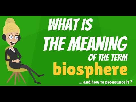 What is BIOSPHERE? What does BIOSPHERE mean? BIOSPHERE meani