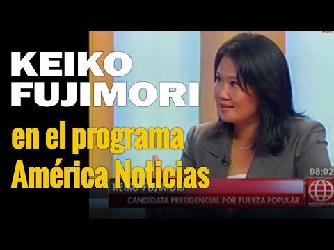 Keiko Fujimori en el programa América Noticias |  22-04-16