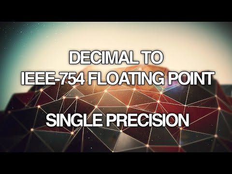 Converting Decimal to IEEE 754 Floating Point Single Precision