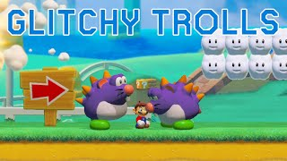 A Glitchy Troll Level in Super Mario Maker 2 (by ÆtherPi)