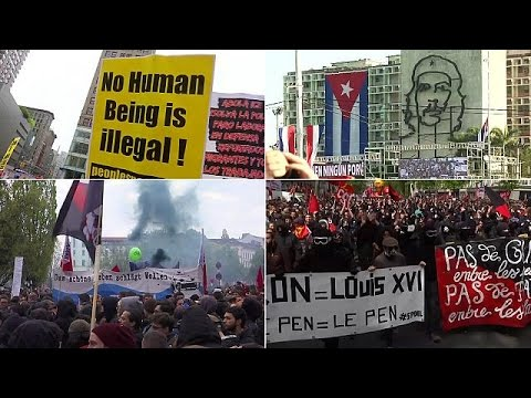 Workers and activists mark May Day around the globe
