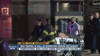 Man falls through ceiling of Denver restaurant(Investigators believe the man had been secretly living in the rafters. 12.10.14., 2014-12-10T12:02:26.000Z)