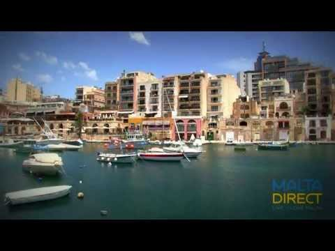 St Julians and St Georges bay, Malta