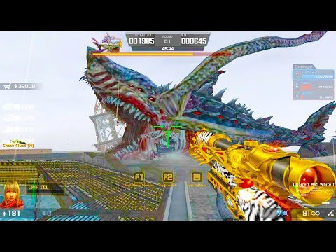Counter-Strike Nexon: Zombies - Megalodon Zombie Boss Fight (Hard4) gameplay on Rendezvous map