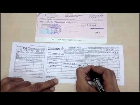 How To Fill A DEPOSIT SLIP In English - Simplified.