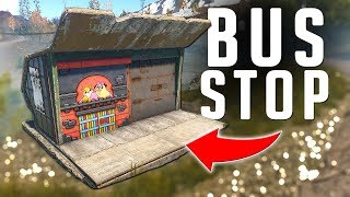 I RIGGED this BUS STOP BASE with TESLA COILS | Rust Trap