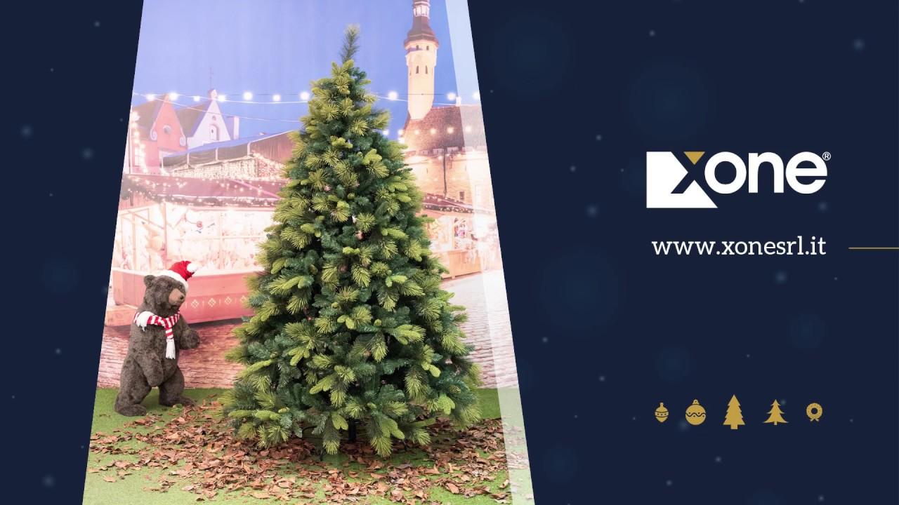 Alberi Di Natale Xone.Albero Di Natale Xone Super Folto E Realistico Big Mountain In Pe Pp Pvc H 225 Cm Youtube