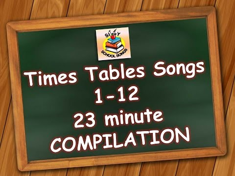 Times Tables Songs 112 for Kids  23 Minute Compilation from Silly School Songs!