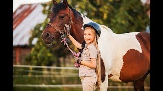 Учусь ездить на лошади
