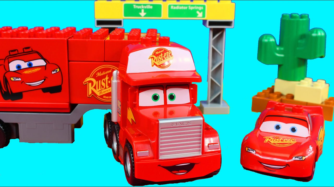 Lego Duplo Disney Pixar Cars Mack S Road Trip With Lightning Mcqueen Sheriff Mack Youtube