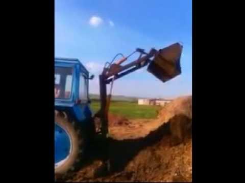Отвал сзади на тракторе т-40 - YouTube