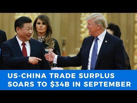 US-China trade war heats up as surplus hits record $34 Billion