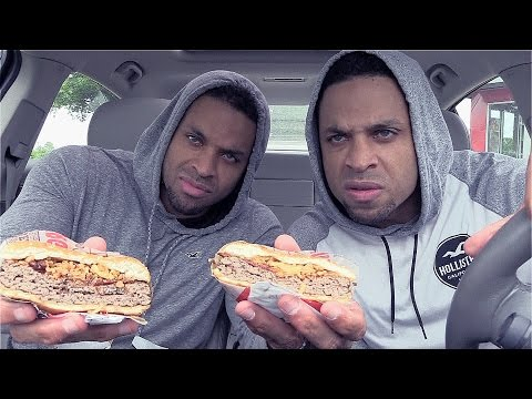 Eating Burger King Steakhouse King Sandwich @Hodgetwins