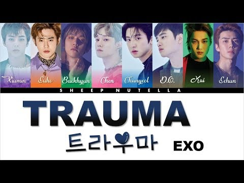 EXO 엑소  - 트라우마 (Trauma) [Color Coded Lyrics HAN/