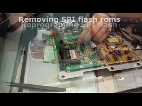 Recovering broken firmware on LED tv mb82 - YouTube