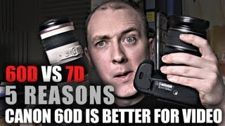 Canon 60D vs 7D | 5 Reasons 60D is better for DSLR Video(Canon 60D vs Canon 7D : 5 Reasons 60D is better for DSLR video production. More reviews at http://www.worldofypod.com which is better? Canon 60d or ..., 2013-06-01T11:45:57.000Z)