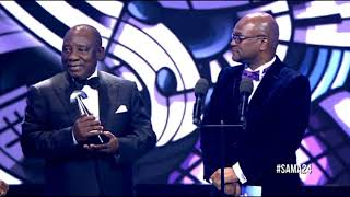 Ramaphosa Presents A Lifetime Achievement Award For Mbongeni Ngema