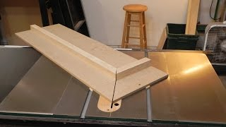 Making A Table Saw Miter Sled