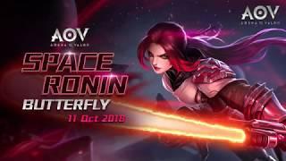 Space Ronin Butterfly - Skin Spotlight Garena AOV (Arena Of Valor)