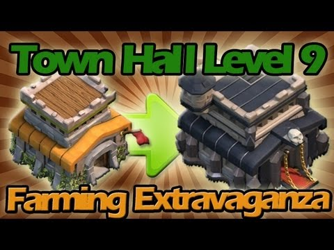 FINALLY UPGRADING TO TOWN HALL LEVEL 9 + High Resource Farming Extravaganza!!!!