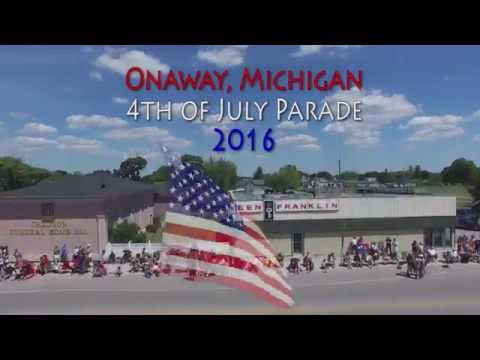 Onaway Michigan 4th of July Parade 2016